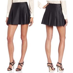 Bcbgeneration Bcbg pleated faux leather skirt NWT